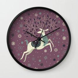 Prancing Reindeer Wall Clock