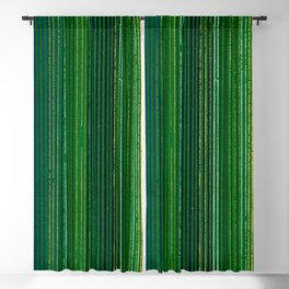 Green Vertical Stripes Japanese Shima-Shima Pattern Blackout Curtain