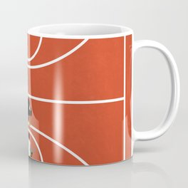 Street Basketball From Above | Aerial Illustration Coffee Mug