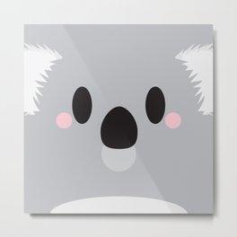 Koala Block Metal Print