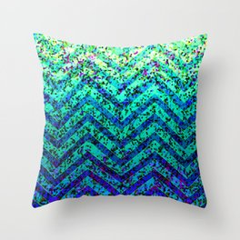 Zig Zag Sparkley Texture G230 Throw Pillow