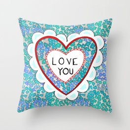 Love heart Throw Pillow