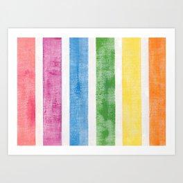 Colorful stripes pattern Art Print