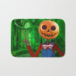 Jack The Pumpkin Bath Mat