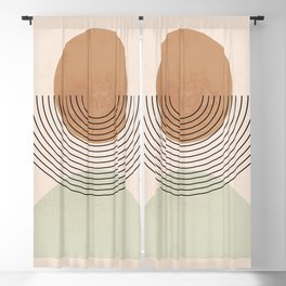 Minimal Geometric Shapes 123 Blackout Curtain