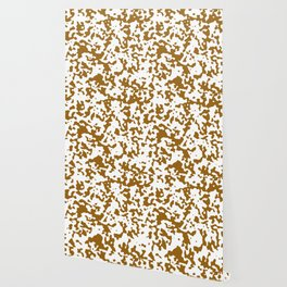 Spots - White and Golden Brown Wallpaper