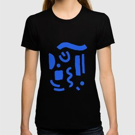 Brush Stroke Minimal 19 - Abstract Pattern Shapes Modern Mid Century Texture Blue. Gift idea Home deco T-shirt
