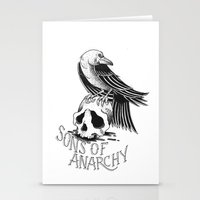 sons of anarchy Stationery Cards featuring Sons of Anarchy  by Christiano Mere