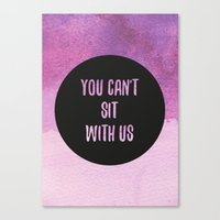 mean girls Canvas Prints featuring Mean Girls by Lonely Pluto
