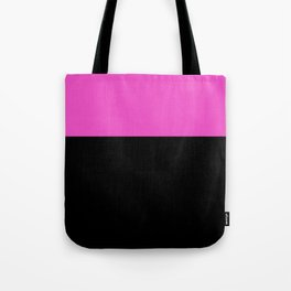 Pink Black Color Block Tote Bag