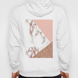 Marble - pink and gold Hoody