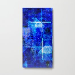 Sapphire Nebulæ Metal Print