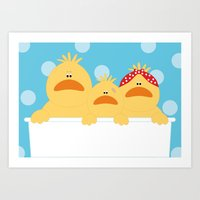 ducks Art Prints featuring Ducks by SANTA