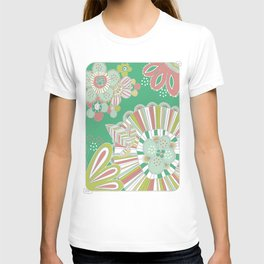 Vector pattern with flowers T-shirt