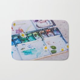 Watercolor Bath Mat