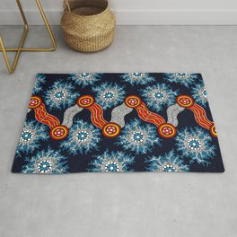Aboriginal Art Authentic - The Journey Rug