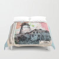 maine Duvet Covers featuring Maine by Ursula Rodgers