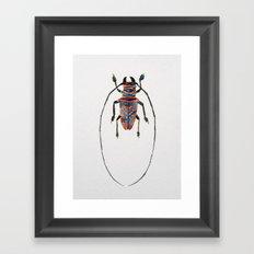 Beetle Watercolor I Framed Art Print