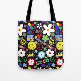 PMO colorful collage Tote Bag