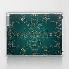 Gold Teal Mandala Laptop & iPad Skin