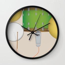 Drum Set Print Wall Clock