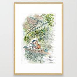 Coffee and Avocado Toast on Abbot Kinney Framed Art Print