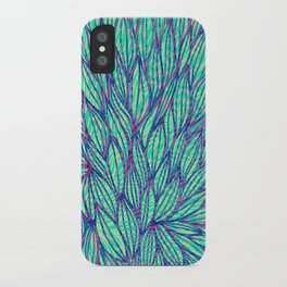 Natural leaves iPhone Case