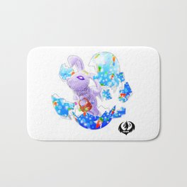 'You Cracked the Egg' Series - Easter Angelic Bunny Bath Mat
