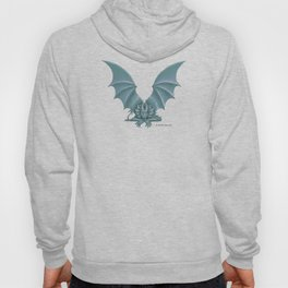 """Dragon Letter V, from """"Dracoserific"""", a font full of Dragons Hoody"""