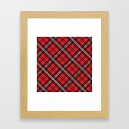 Scottish Plaid-Red Framed Art Print