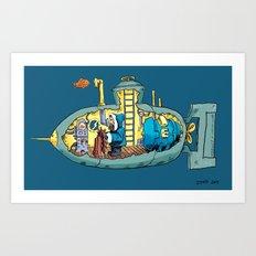 The Submarine of Dr. Khozan Art Print