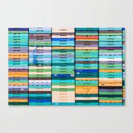 Produce Crates Canvas Print