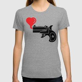 Pistol Blowing Bubbles of Love T-shirt