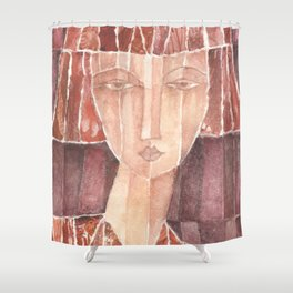 Red N° 4 Shower Curtain