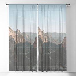 Angels Landing Zion Sheer Curtain