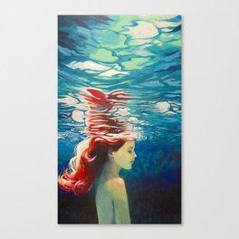 Underwater Ariel Canvas Print