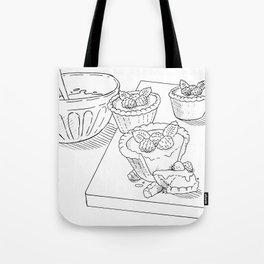 Raspberry Tarts Tote Bag
