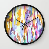 dance Wall Clocks featuring Dance by Amy Sia