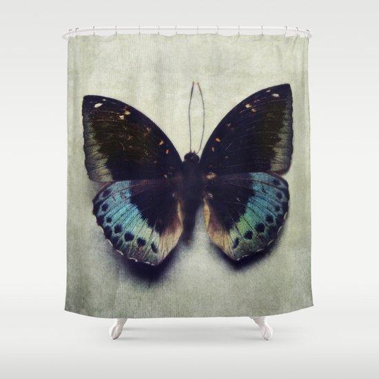 vintage butterfly 4 shower curtain by kunstfabrik