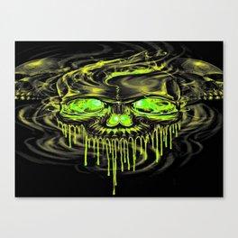 Glossy Yella Skeletons Canvas Print