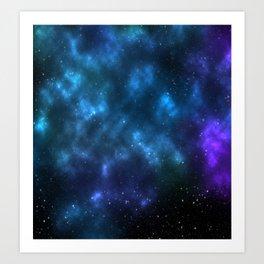 space cloud Art Print
