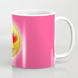 Smiling Face with Heart-Eyes Emoji | Pop Art Coffee Mug