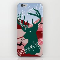 merry christmas iPhone & iPod Skins featuring merry christmas by mark ashkenazi