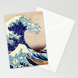 Katsushika Hokusai The Great Wave Off Kanagawa Stationery Cards