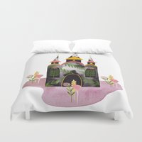 victorian Duvet Covers featuring Victorian House by Estée Preda