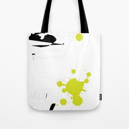 Lime Green Abstract Rick Genest Tote Bag