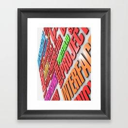 design poster Framed Art Print