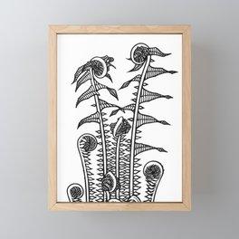 Ferns - 1920s Block Print Framed Mini Art Print