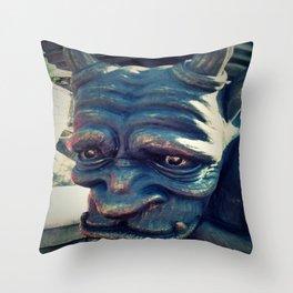 Sad Gargoyle Closeup 1 Throw Pillow