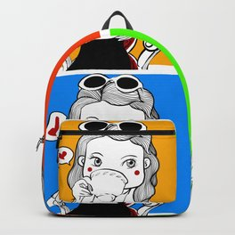 I can drink coffee everyday. Backpack